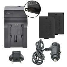 2 LP-E10 Battery Packs+ Charger for Canon EOS Rebel T6 T7 T100 1300D 2000D 4000D
