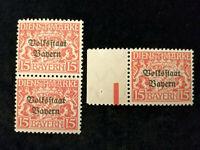Altdeutschland Bayern Dienstmarken 1919 - MiNr. 34  mit Aufdruck  15 Pf