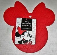 "DISNEY MINNIE MOUSE SILICONE TRIVET 7.25"" X 7.50"" RED"