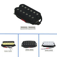 US Black Alnico 5 Double Coil Humbucker Electric Guitar Neck Pickup 4 Conductors