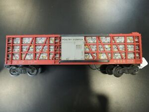 Lionel 6434 Poultry Dispatch Chicken Freight Box Car vintage red toy train