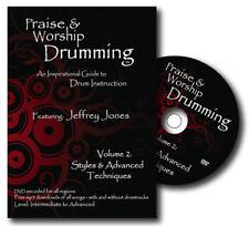 PRAISE & WORSHIP DRUMMING - VOL 2: STYLES & ADV TECHNIQUES DRUM INSTRUCTION DVD