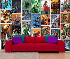 Wallpaper Wallart Avengers Marvel Comic Batman, Captain America BIG 310x210cm