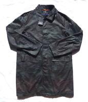 Jack Spade Men's Waxwear Trench Coat Jacket Size L Large Camo Waxed Cotton  $498