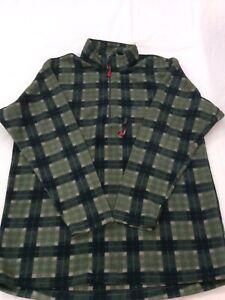 Mens Jack Wolfskin Fleece Pullover Size UK Xxxl Jacket Zip 1/4