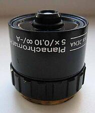 Carl Zeiss PLANACHROMAT HD 5x/0,10 objective microscope JENAVAL / Aus Jena
