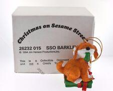 Sesame Street SSO Barkley 1994 Jim Henson Chirstmass Ornament