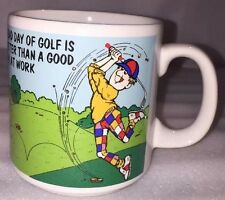 Vtg Russ Berrie A Bad Day Of Golf Is Better Than A Good Day At Work Coffee Mug