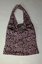 WOMENS S PINK AND BLACK COLOR ANIMAL PRINT HALTER TOP BY NICOLE MILLER!