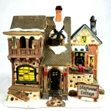 Christmas Village Lighted House Staghound Cottage 2004