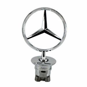 New Chrome Hood Ornament for Mercedes Benz S350 S550 C250 C300 C200K E300 W163