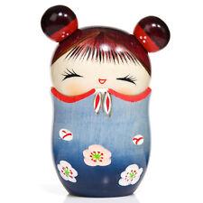 Azul de memoria Caja de la baratija Kokeshi Muñeca