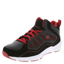 Champion Mens Boys Playmaker Basketball Black Red Shoes 6W Great for school fall