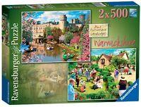 14064 Ravensburger Picturesque Warwickshire Jigsaw Puzzle 2x 500 Pieces