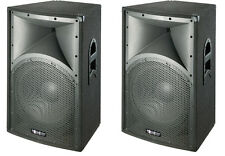 "PAIR of New 15"" PA DJ CLUB Speaker Cabinet Pro DJ Speakers"