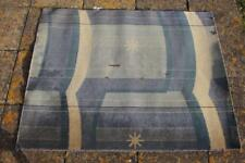 CUNARD WHITE STAR LINE RMS QUEEN MARY & ELIZABETH ART DECO STATEROOM RUG A/F