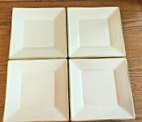 """Pottery Barn Asian Square Salad Plates (Set of 4) Japan 8 1/8"""" EX CONDITION"""