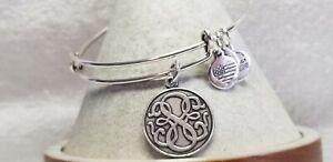 Alex & Ani Path of Life🎄 Silver Charm  expandable  Bangle Bracelet Wrap 🦃 1