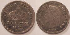 20 Centimes argent Napoléon III 1867 BB !!