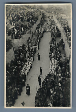 Palestine, Pilgrims entering the old City of Jerusalem  Vintage silver print.