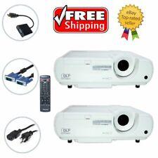 Lot of 2 - Mitsubishi XD221U DLP Projector w/Accessories