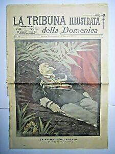 GIORNALE LA TRIBUNA ILLUSTRATA 12/8/1900  ORIGINALE VINTAGE