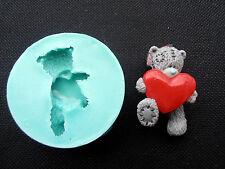 Silicone Mould BEAR+HEART Sugarcraft Cake Decorating Fondant / fimo mold