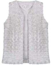 Vêtements gilet gris pour fille de 2 à 16 ans