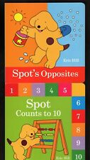 Spot Counts to 10  AND  Spot's Opposites - Eric Hill Lot of 2 Board Books - MINT