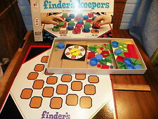 """1969 MILTON BRADLEY CO. """"FINDERS KEEPERS"""" Family Board Memory Game             !"""
