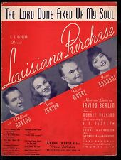 The Lord Done Fixed Up My Soul 1940 Louisiana Purchase Irving Berlin Sheet Music