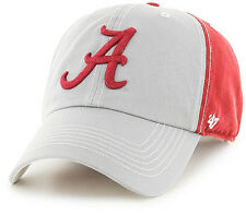 4fe3e4a8b637d Alabama Crimson Tide  47 Brand Two Tone Clean Up Adjustable Dad Hat