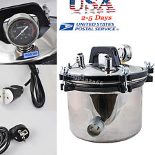 USA 8L Portable Steam Autoclave Sterilizer Dental Equipment Stainless Steel Seal