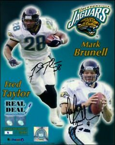 Fred Taylor Mark Brunell autographed signed autograph Jaguars 16x20 photo poster