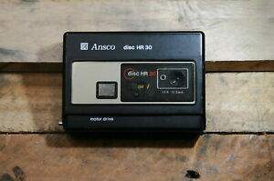 Ansco HR 30 Disc Film Camera Compact Built In Flash 12.5 MM Lens