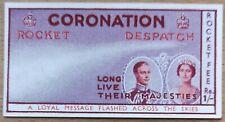 Rocket Despatch Mail Vignette S.H. Smith CORONATION 1937 Space INDIA Majesties