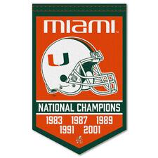Miami Hurricanes Football National Champions Banner Flag