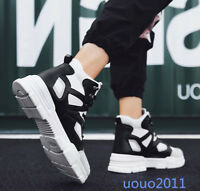 Mens Lace Up High Top Platform Fashion Street Athletic Sneakers Chic Board Shoes