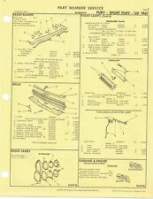 1967 Plymouth Fury Sport Fury VIP Factory OEM Part Number List gtc