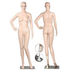 "69.29 "" Full Body Female Mannequin w/ Base Plastic Realistic Display Head Turns"
