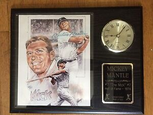 Signed MICKEY MANTLE 1974 Hall of Fame Limited Edition Plaque
