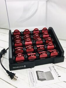 Remington Hot Rollers 20 Heated Clip Rollers in 2 Sizes Model H-9097 Very Clean