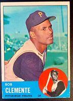 1963 Topps Baseball #540 ROBERTO CLEMENTE Pittsburgh Pirates HOF BEAUTIFUL!