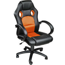 Poltrona sedia ufficio girevole per casa studio sportiva racing nero arancione n