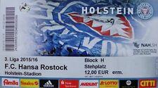 Ticket / Eintrittskarte 3.Liga KSV Holstein Kiel - FC Hansa Rostock  19.09.2015
