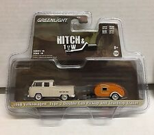 1968 Volkswagen Type 2 Double Cab & Teardrop Trailer * Greenlight  Hitch & Tow
