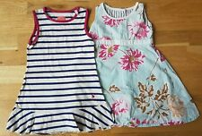 Joules 3 years summer dress blue white striped ruffle floral cotton set formal