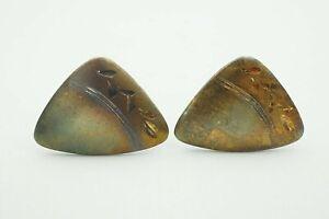 Vintage JML Sterling Silver Etched Diamond Cut Cufflinks
