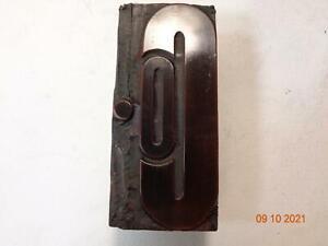 Printing Letterpress Printer Block Antique Wood Company Abbreviation Print Cut