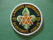 BOY SCOUTS OF CANADA - CANADA CENTENARY PATCH- 1967- SCOUTING JUBILEE- Rare